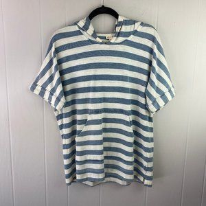 Jane and Delancey | Size M. Striped Hooded Shirt